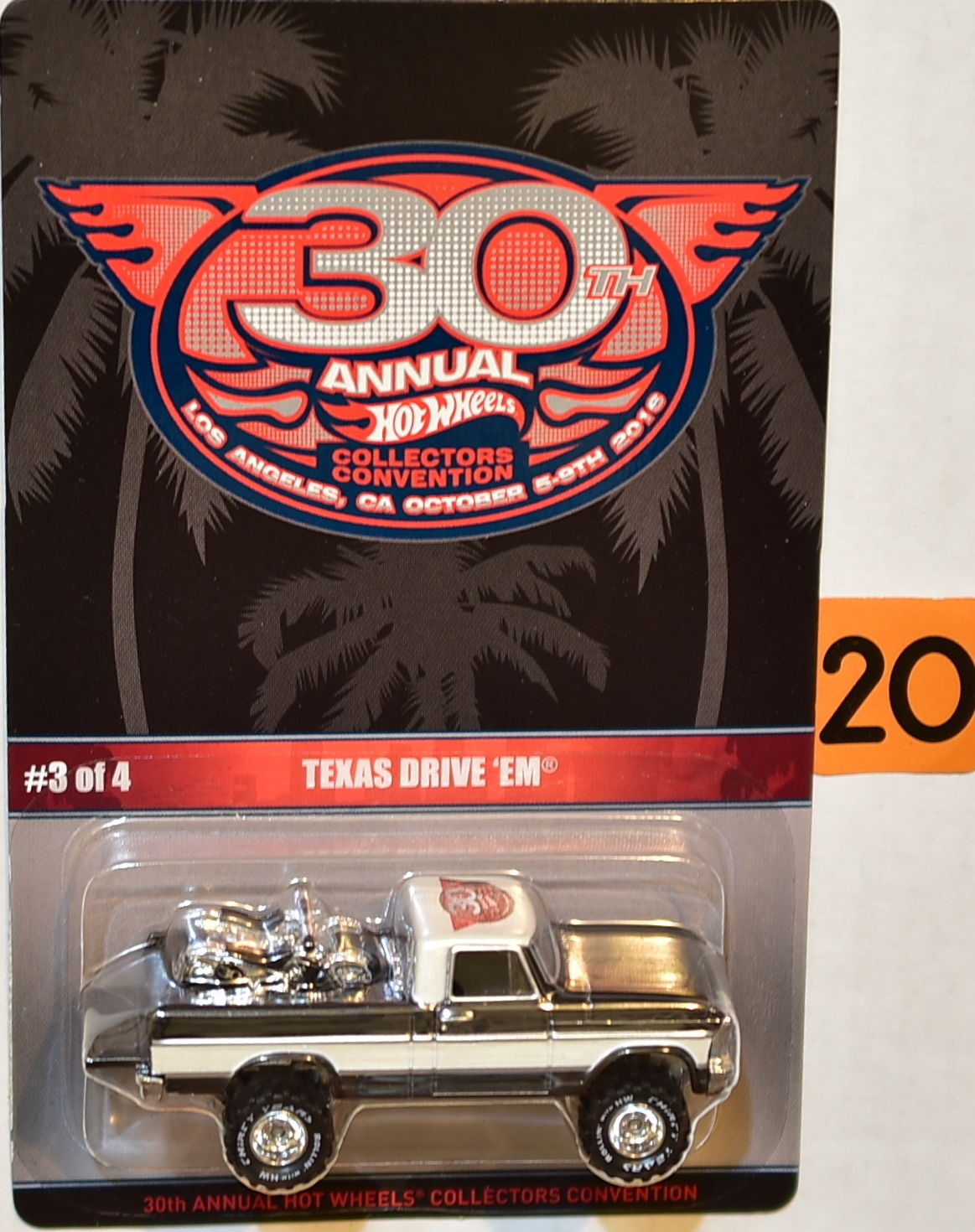 HOT WHEELS 2016 30th ANNUAL COLLECTORS CONVENTION TEXAS DRIVE 'EM