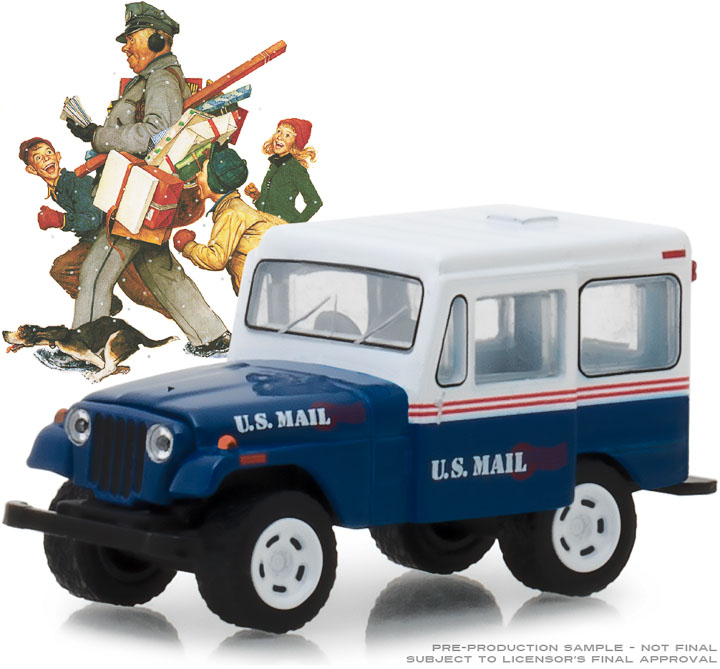 GREENLIGHT NORMAN ROCKWELL DELIVERY 1971 JEEP DJ-5 SERIES 1 - 1:64 (PRE-ORDER)
