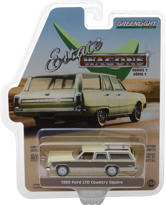 GREENLIGHT ESTATE WAGON 1985 FORD LTD COUNTRY SQUIRE WITH WOOD PANELING