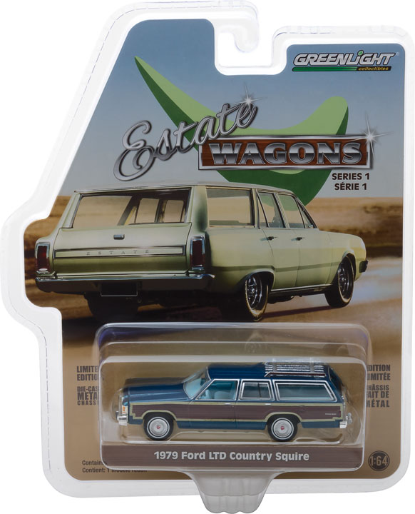 GREENLIGHT GESTATE WAGON 1979 FORD LTD COUNTRY SQUIRE MIDNIGHT BLUE (PRE-ORDER)
