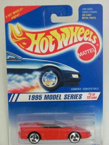 HOT WHEELS 1995 MODEL SERIES #8/12 CAMARO CONVERTIBLE 3 SP