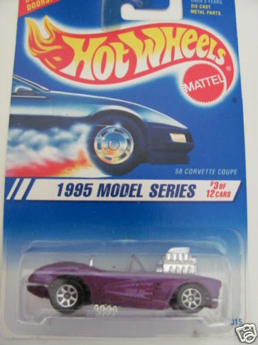 HOT WHEELS 1995 FIRST EDITIONS 3/12 '58 CORVETTE COUPE