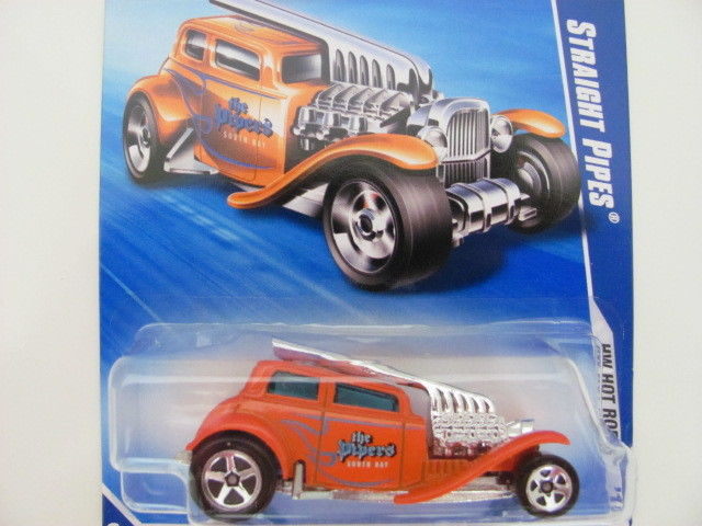 HOT WHEELS 2010 7/10 STRAIGHT PIPES HW HOT RODS REPAINT