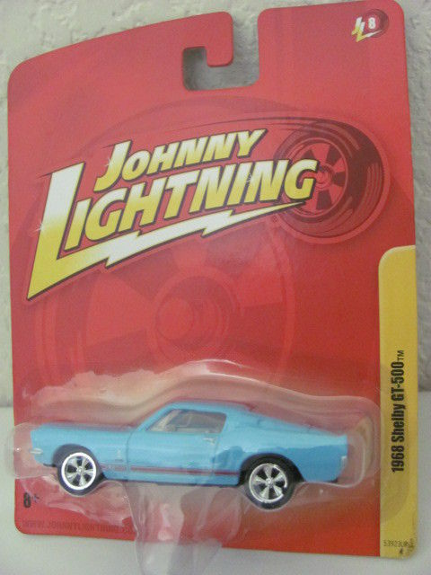 JOHNNY LIGHTNING 1968 SHELBY GT-500 BLUE JL8 !!!