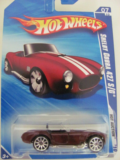 HOT WHEELS 2010 SHELBY CORBA 427 S/C HOT AUCTION REPAIT