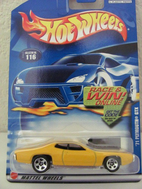 HOT WHEELS 2002 '71 PLYMOUTH GTX W/ 5 SPOKES WHEELS