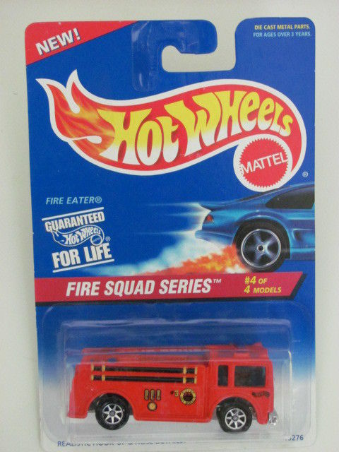 HOT WHEELS 1995 FIRE SQUAD SERIES #4/4 FIRE EATER 7 SPK
