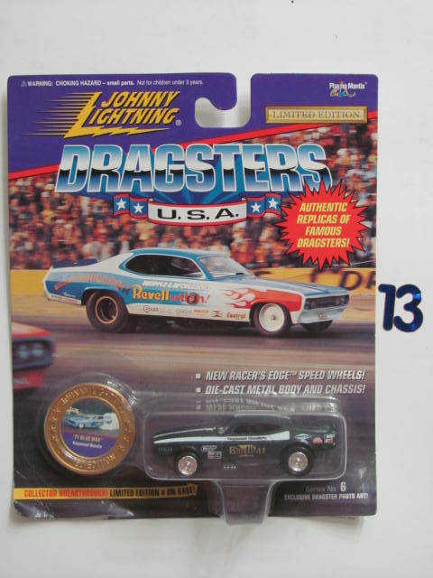 JOHNNY LIGHTNING DRAGSTERS U.S.A '71 BLUE MAX GREEN