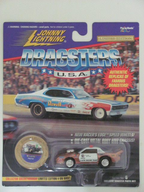 JOHNNY LIGHTNING DRAGSTERS U.S.A '92 L.A.P.D - POLICE