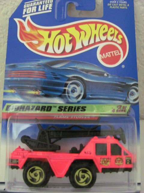 HOT WHEELS 1998 BIOHAZARD SERIES FLAME STOPPER #718