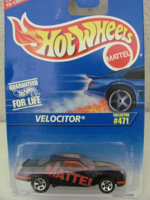 HOT WHEELS 1996 #471 VELOCITOR - BLACK