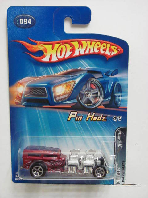 HOT WHEELS 2005 PIN HEDZ - WAY 2 FAST #094 RED