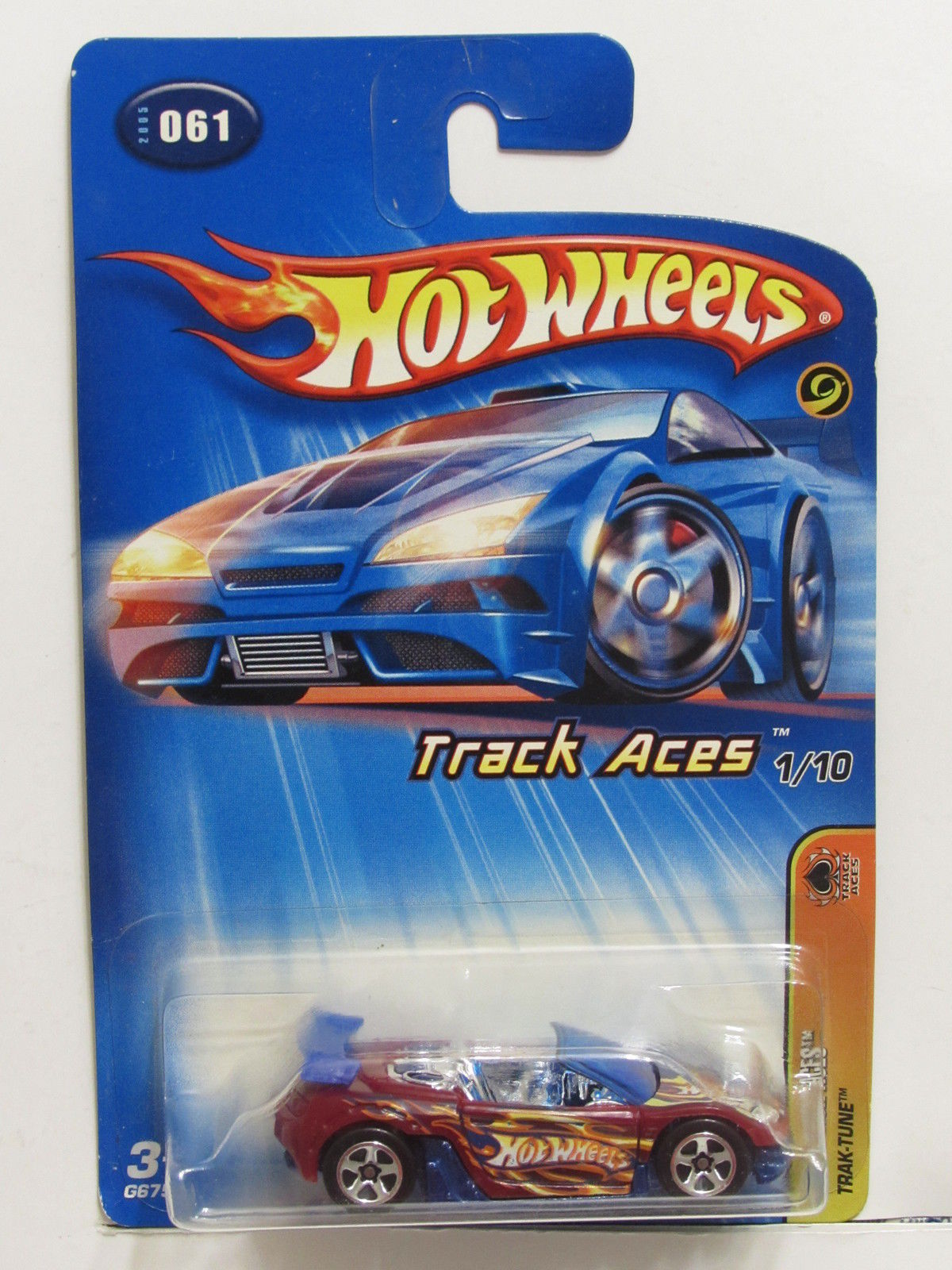 HOT WHEELS 2005 TRACK ACES - TRAK-TUNE #061 RED!!!