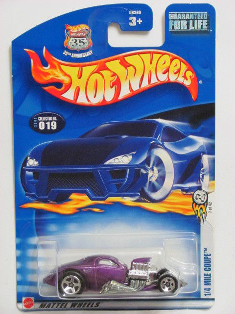 HOT WHEELS 2003 1/4 MILE COUPE COLLECT. #019 PURPLE