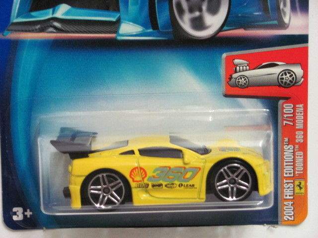 HOT WHEELS 2004 FIRST EDITIONS 7/100 TOONED 360 MODENA
