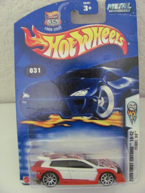 HOT WHEELS 2003 FIRST EDITIONS 19/42 FLIGHT '03 WHITE