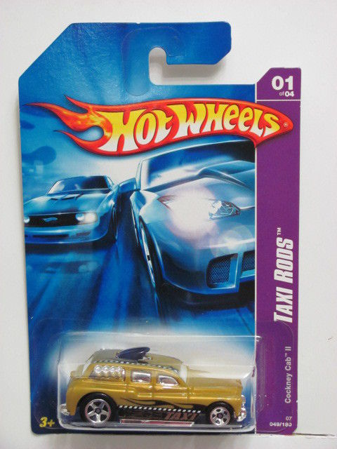 HOT WHEELS 2007 COCKNEY CAB II - TAXI RODS #01/04 YELLOW