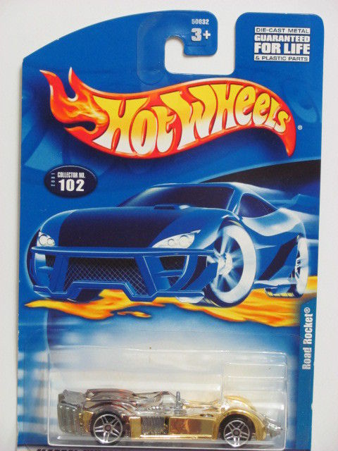 HOT WHEELS 2001 ROAD ROCKET #102 GOLD