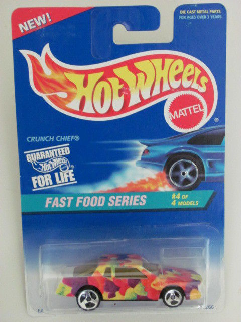 HOT WHEELS 1995 FAST FOOD SERIES #4/4 CRUNCH CHIEF 3 SP