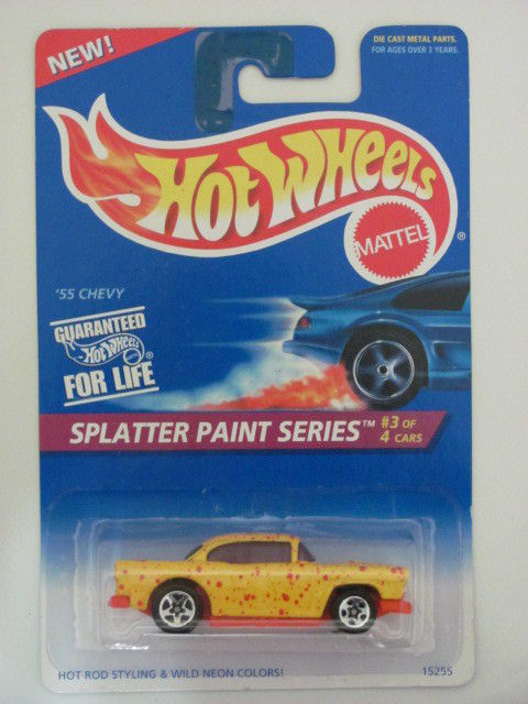 HOT WHEELS 1995 SPLATTER PAINT SERIES '55 CHEVY #410