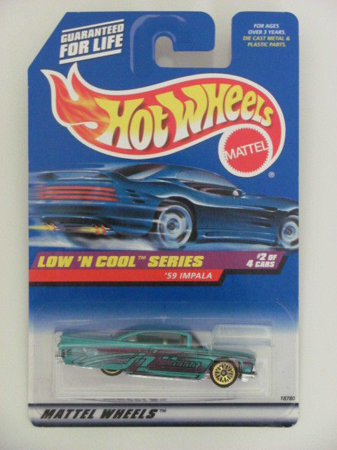 HOT WHEELS 1998 LOW'N COOL SERIES '59 CHEVY IMPALA