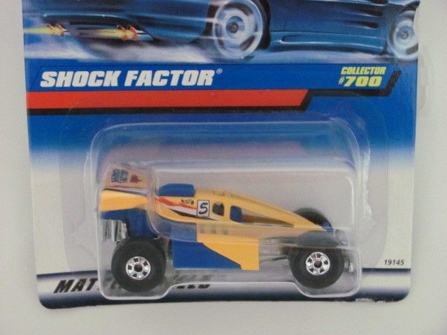 HOT WHEELS 1998 SHOCK FACTOR COLLECTOR #700 YELLOW