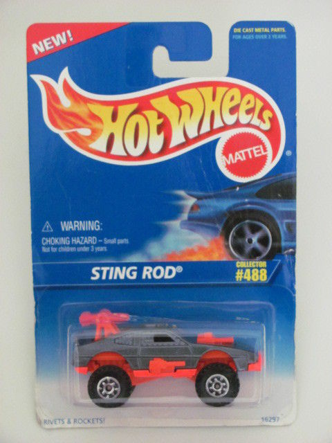HOT WHEELS 1996 COLL. #488 STING ROD GRAY