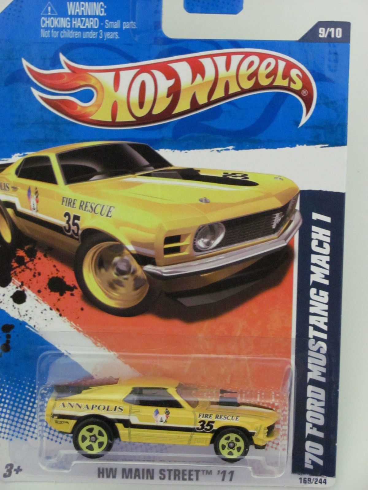 HOT WHEELS 2011 HW MAIN STREET '70 FORD MUSTANG MACH I