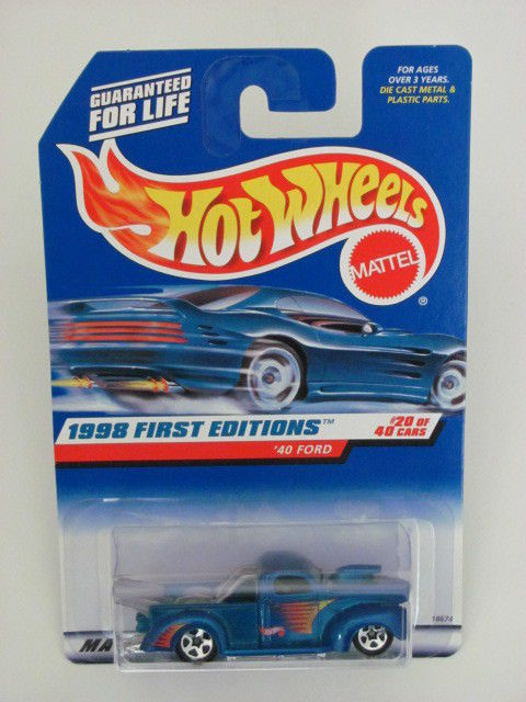 HOT WHEELS 1998 FIRST EDITIONS '40 FORD BLUE #654
