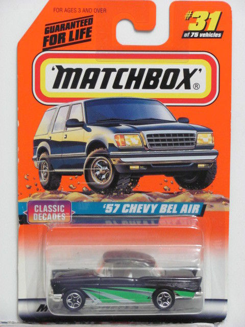 MATCHBOX 1998 '57 CHEVY BEL AIR CLASSIC DECADES #31 OF 75
