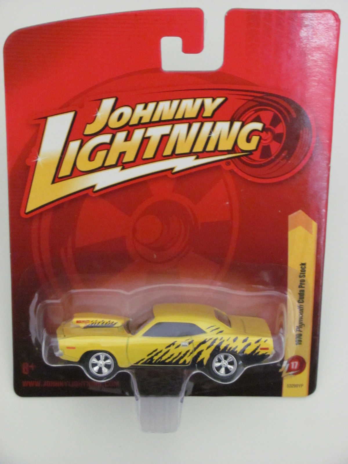 JOHNNY LIGHTNING 1970 PLYMOUTH CUDA PRO STOCK YELLOW RL17
