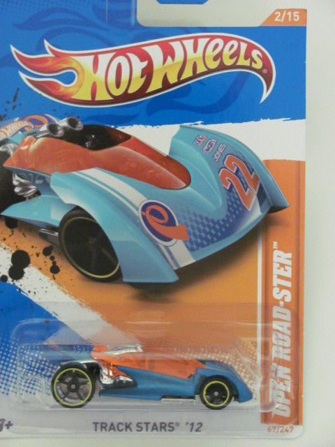 HOT WHEELS 2012 TRACK STARS OPEN ROAD - STER #2/15 BLUE