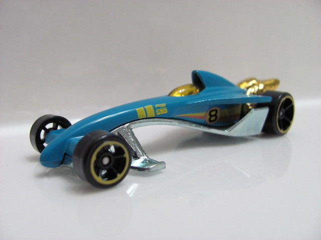HOT WHEELS 2011 INDIANAPOLIS 500 GREASED LIGHTNIN FROM 5 PACK W4256 LOOSE