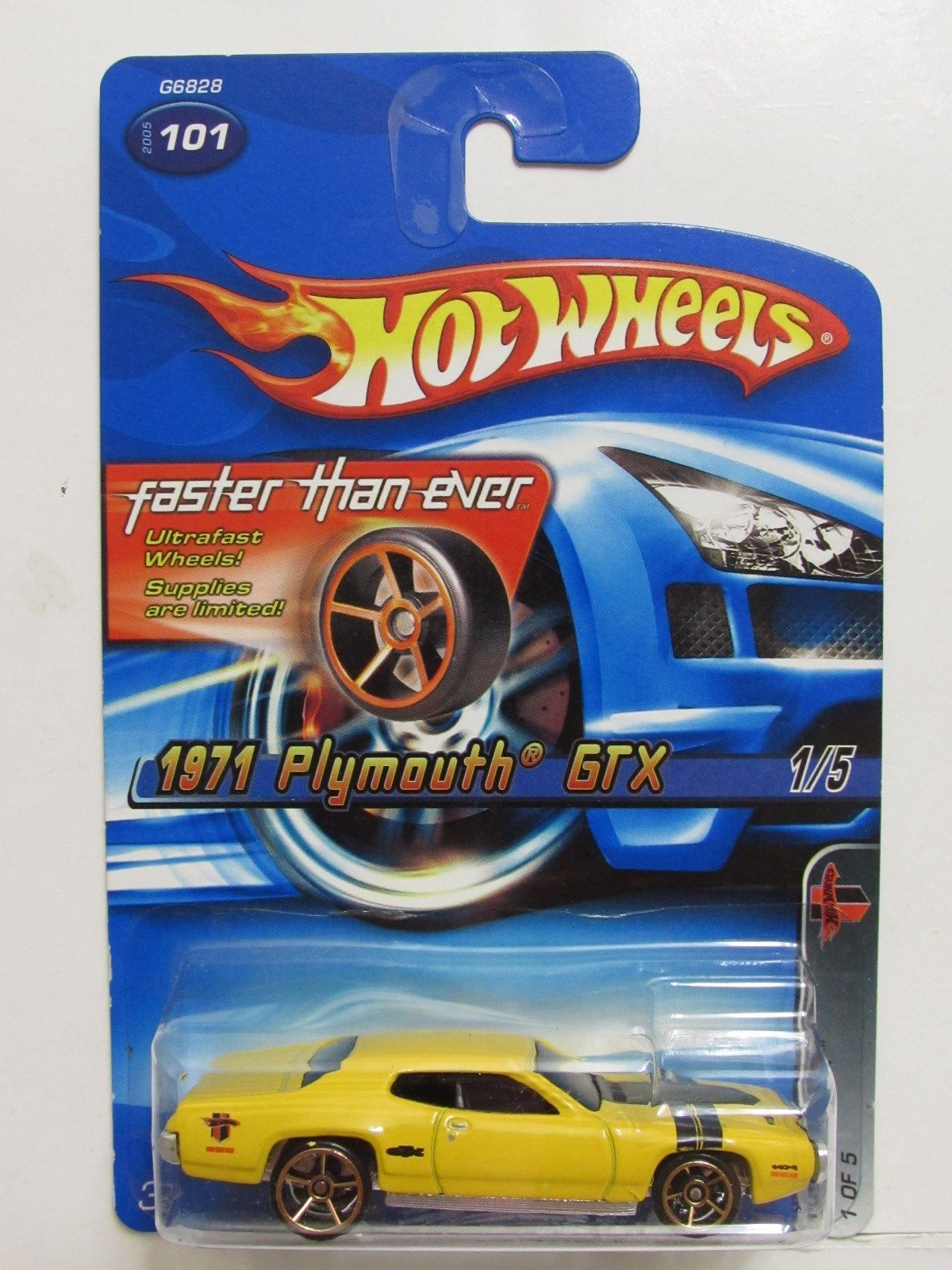 HOT WHEELS 2005 MUSCLE MANIA FTE 1971 PLYMOUTH GTX #101 E+