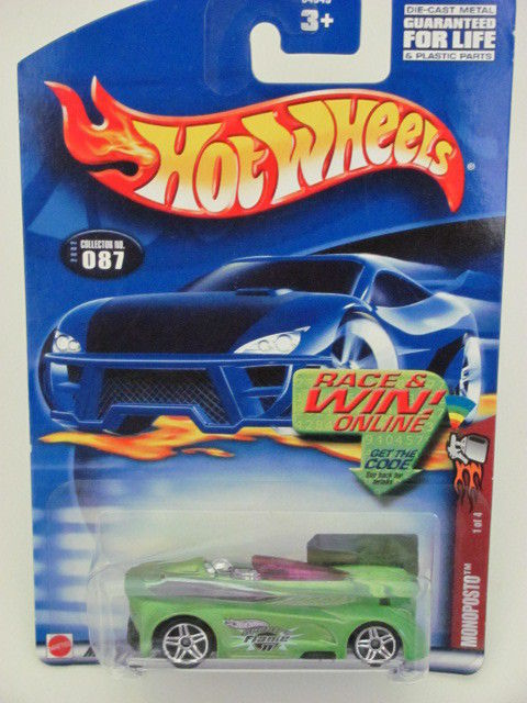 HOT WHEELS 2002 MONOPOSTO #1 OF 4 GREEN #087