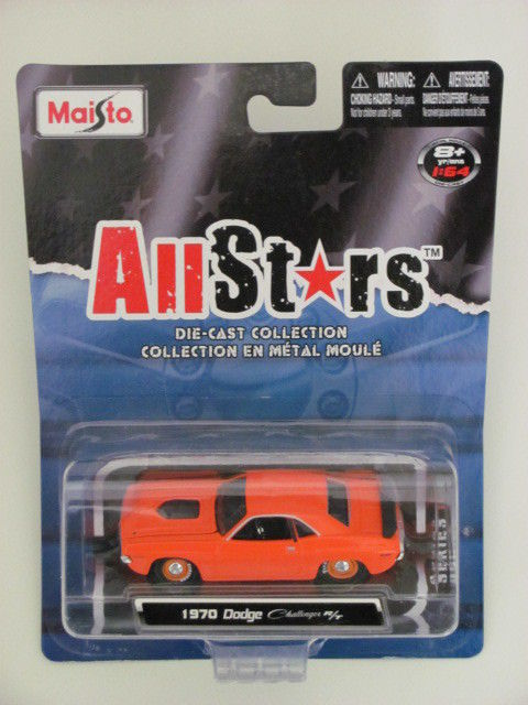 MAISTO ALLSTARS 1970 DODGE CHALLENGER R/T ORANGE SERIES 11
