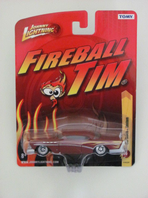 JOHNNY LIGHTNING 2011 FIREBALL TIM 1957 BUICK CUSTOM RED JL20