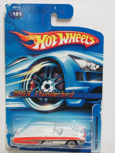 HOT WHEELS 2006 1963 THUNDERBIRD #181 E+