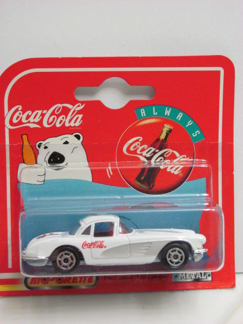 COCA COLA POLAR BEAR MAJORETTE 200 SERIES CHEVROLET CORVETTE 58