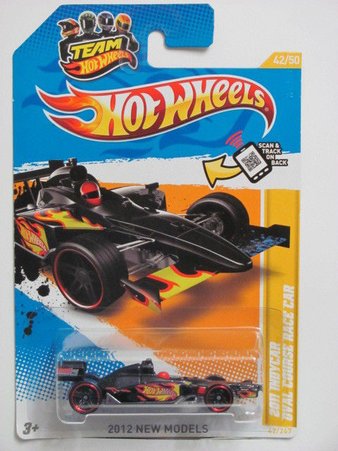 HOT WHEELS 2012 NEW MODLES #42/50 2011 INDYCAR OVAL COURSE RACE CAR