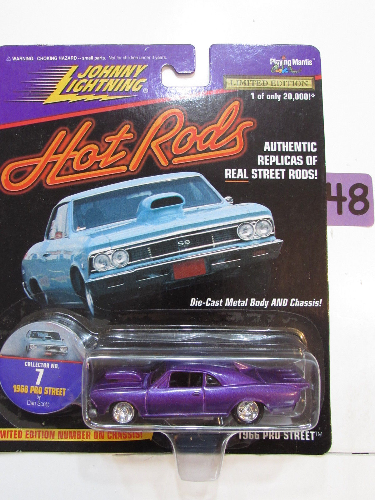 JOHNNY LIGHTNING HOT RODS 1966 PRO STREET PURPLE #07