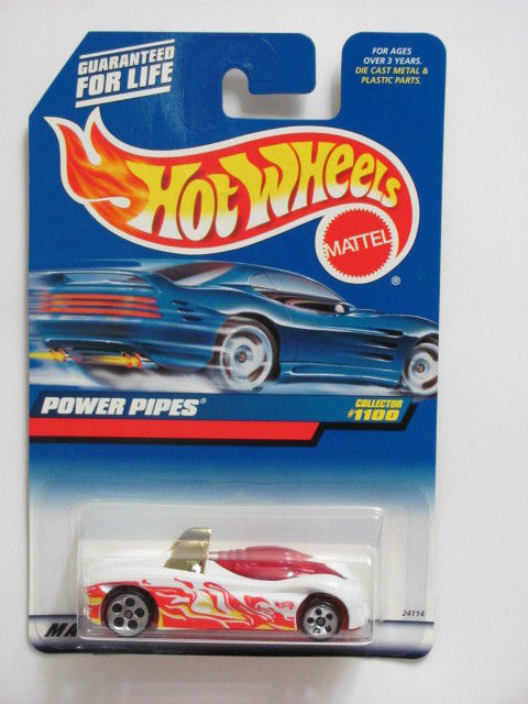 HOT WHEELS 1999 POWER PIPES #1100 WHITE