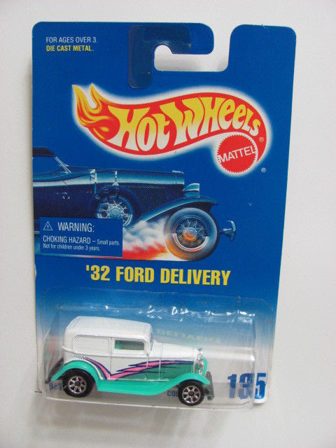 HOT WHEELS 1991 BLUE CARD COLL. 135 '32 FORD DELIVERY WHITE
