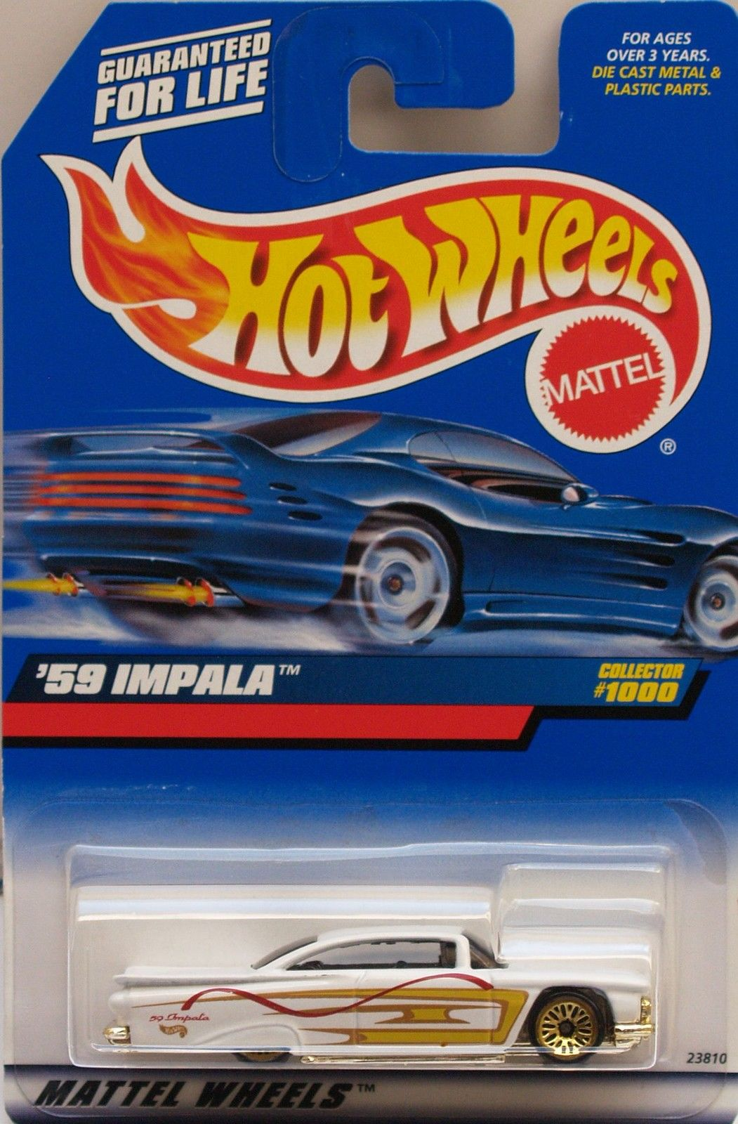 HOT WHEELS 1999 '59 CHEVY IMPALA COLLECT.#1000 WHITE