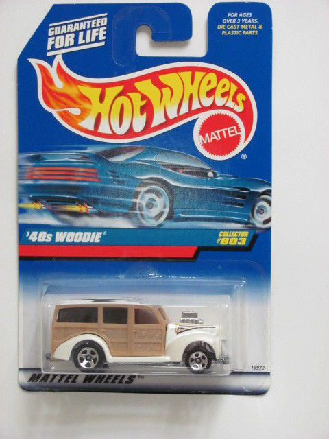 HOT WHEELS 1998 '40S WOODIE #803 TAN E+
