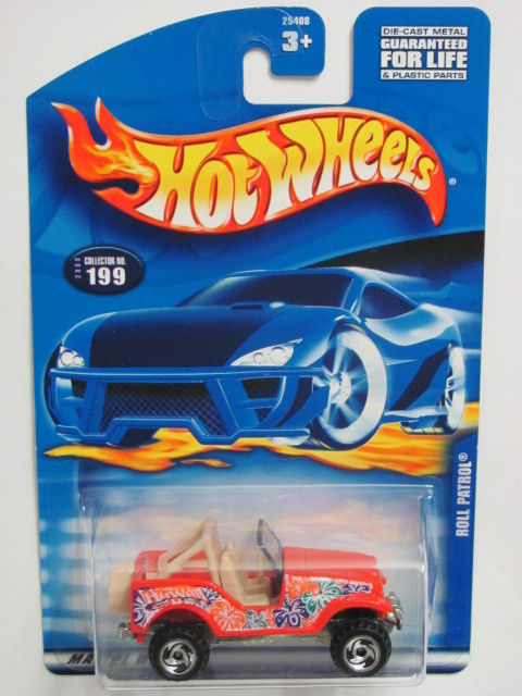 HOT WHEELS 2000 ROLL PATROL COLLECT. #199 RED W/ SAWBLADE