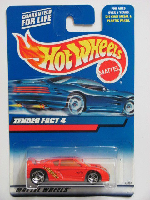HOT WHEELS 2000 ZENDER FACT 4 #208 RED