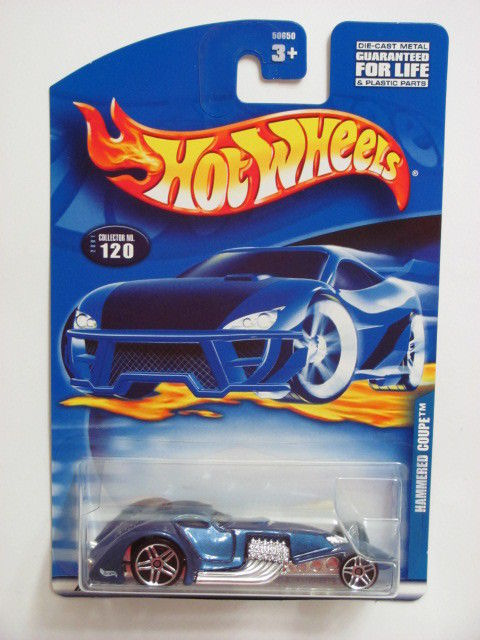 HOT WHEELS 2001 HAMMERED COUPE #120 BLUE