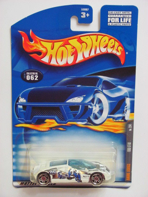HOT WHEELS 2001 FORD GT - 90 ANIME SERIES #062 WHITE