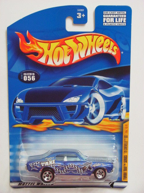 HOT WHEELS 2001 TURBO TAXI SERIES '70 CHEVELLE SS #056 BLUE